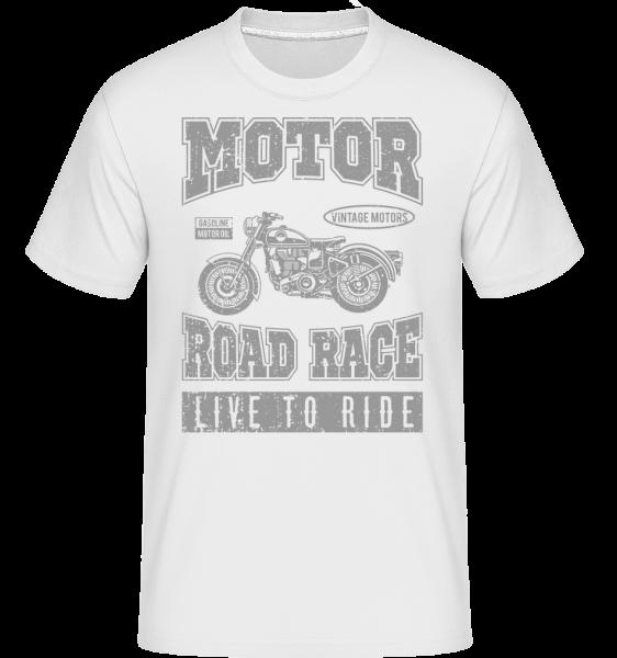 Motor Road Race - T-Shirt Shirtinator homme - Blanc - Vorn