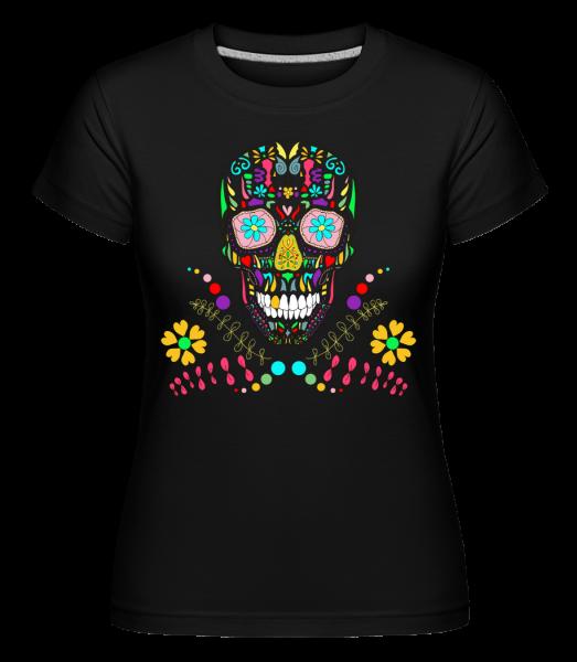 Crâne Coloré - T-shirt Shirtinator femme - Noir - Vorn