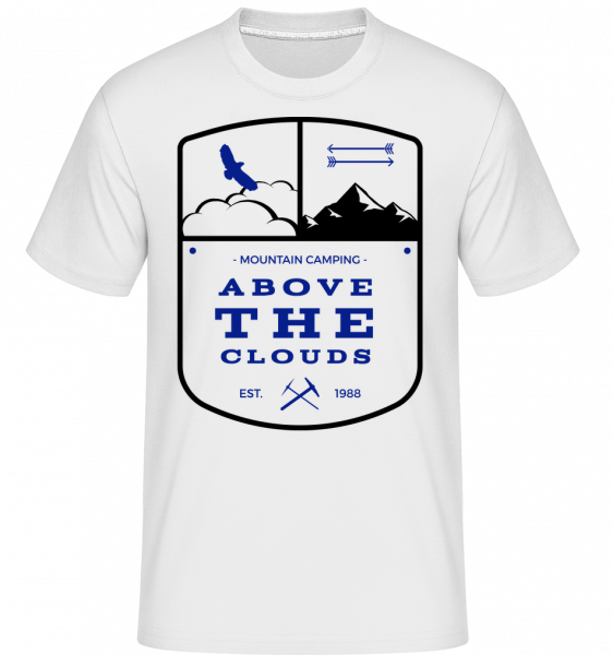 Camping Above The Clouds Sign - T-Shirt Shirtinator homme - Blanc - Vorn