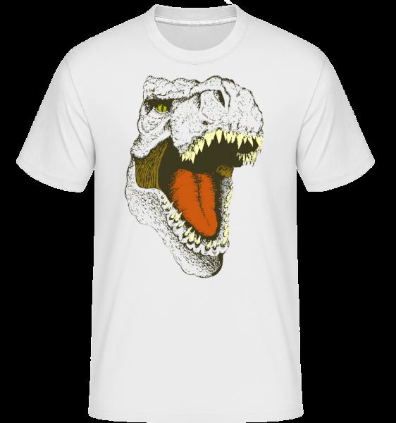 T-Rex Logo - T-Shirt Shirtinator homme - Blanc - Vorn