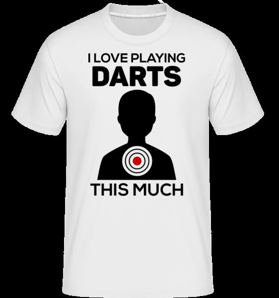 Love Playing Darts - T-Shirt Shirtinator homme - Blanc - Vorn