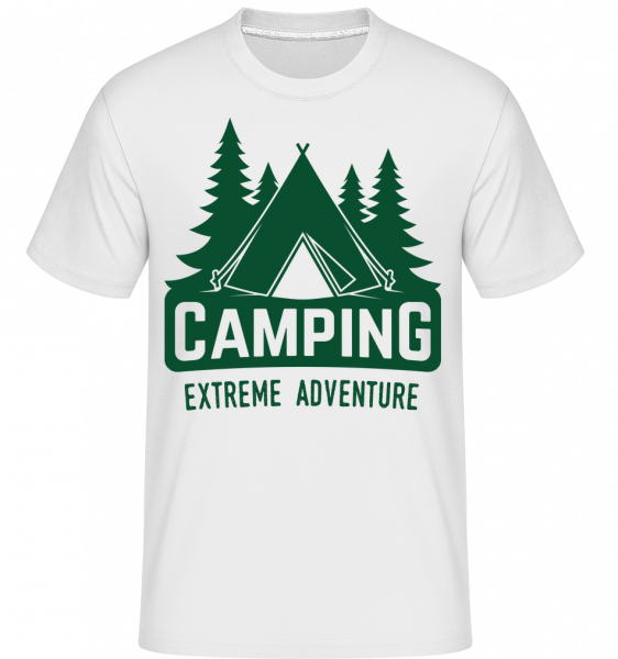 Camping Extreme Adventure - T-Shirt Shirtinator homme - Blanc - Vorn