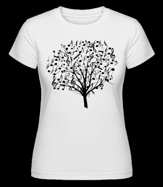 Arbre De Musique - T-shirt Shirtinator femme - Blanc - Vorn