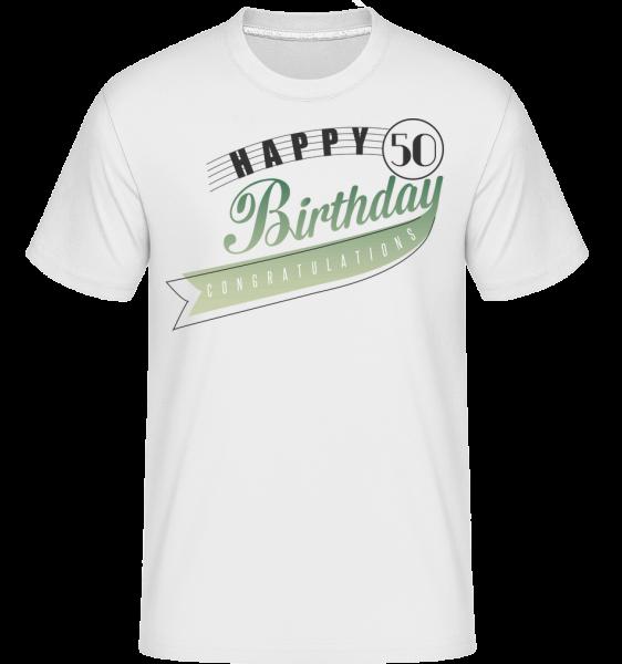 Happy 50 Birthday - T-Shirt Shirtinator homme - Blanc - Vorn