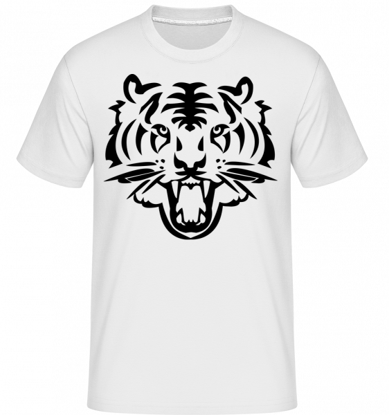 Tête De Tigre - T-Shirt Shirtinator homme - Blanc - Vorn