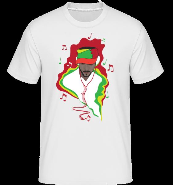 DJ De Musique - T-Shirt Shirtinator homme - Blanc - Vorn