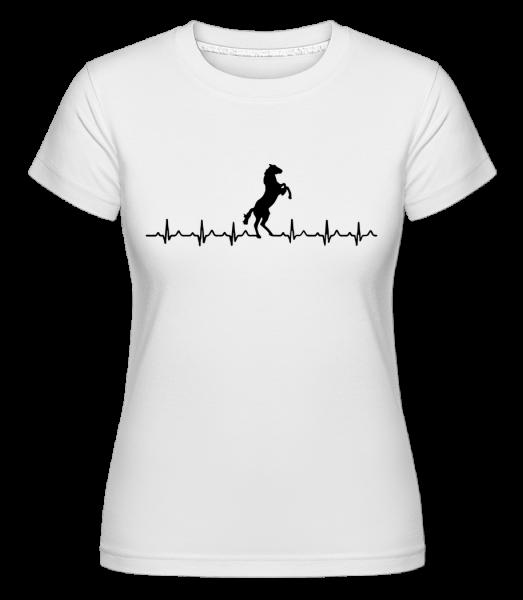 Pulsation Cheval - T-shirt Shirtinator femme - Blanc - Vorn