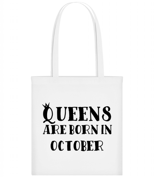 Queens Are Born In October - Sac tote - Blanc - Vorn