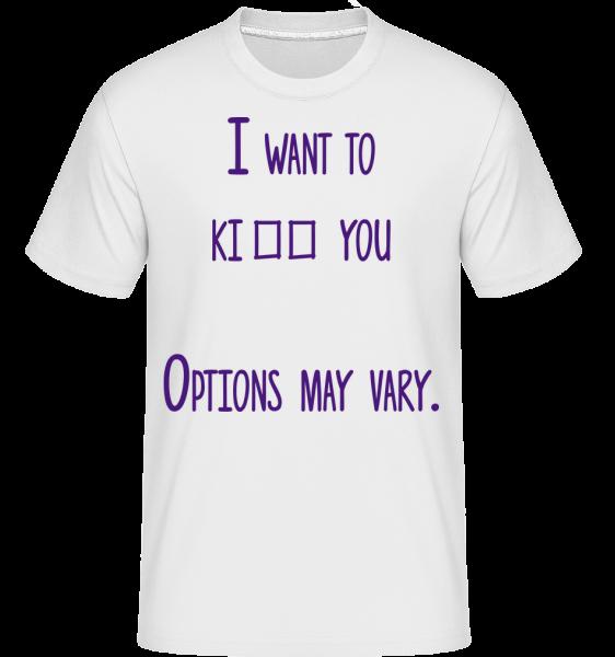 Options May Vary - T-Shirt Shirtinator homme - Blanc - Vorn