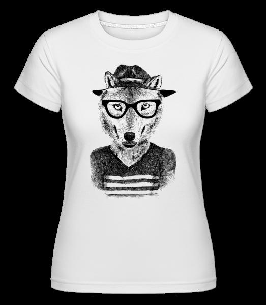 Hipster Renard - T-shirt Shirtinator femme - Blanc - Vorn