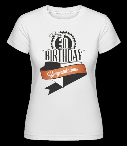 30 Birthday Congrats - T-shirt Shirtinator femme - Blanc - Vorn