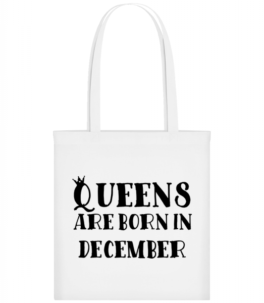 Queens Are Born In December - Sac tote - Blanc - Vorn