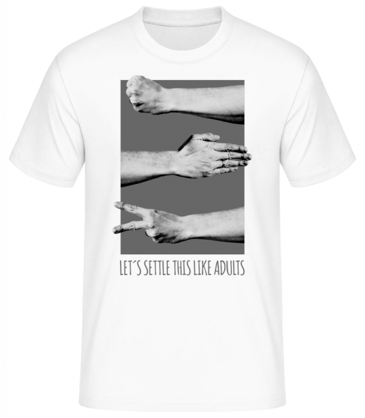 Let's Settle This Like Adults - T-shirt standard homme - Blanc - Vorn