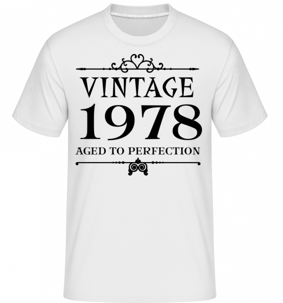 Vintage 1978 Perfection - T-Shirt Shirtinator homme - Blanc - Vorn