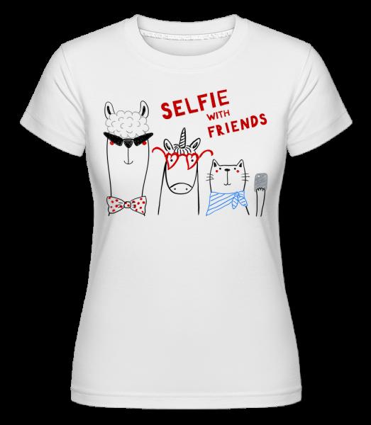 Selfie With Friends - T-shirt Shirtinator femme - Blanc - Vorn