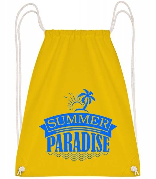 Summer Paradise Blue - Sac à dos Drawstring - Jaune - Vorn