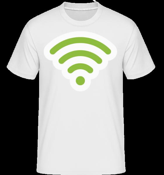 Wlan Icon Green - T-Shirt Shirtinator homme - Blanc - Vorn