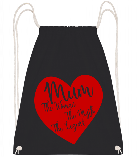 Mum - The Legend - Sac à dos Drawstring - Noir - Vorn