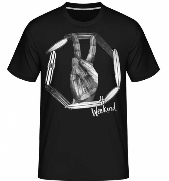 Weekend Peace -  T-Shirt Shirtinator homme - Noir - Vorn