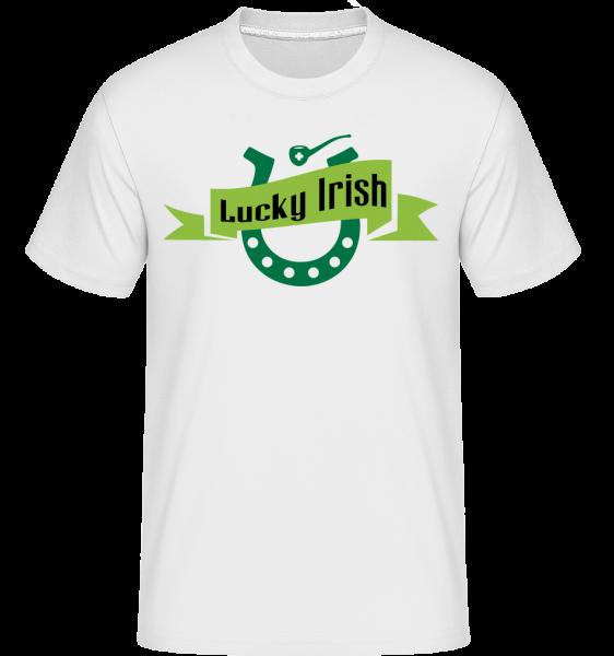 Lucky Irish Sign - T-Shirt Shirtinator homme - Blanc - Vorn