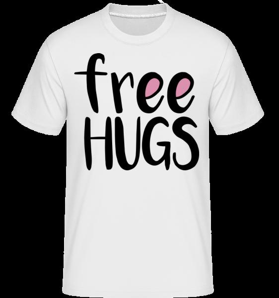 Free Hugs - T-Shirt Shirtinator homme - Blanc - Vorn
