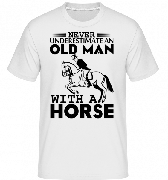 Old Man With Horse - T-Shirt Shirtinator homme - Blanc - Vorn
