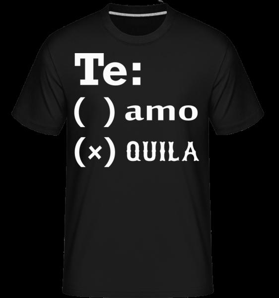 Te Amo Tequila - T-Shirt Shirtinator homme - Noir - Vorn