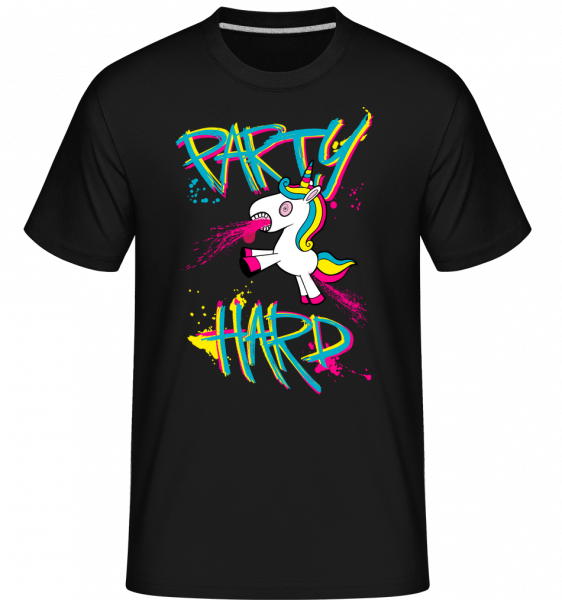 Party Hard Licorne -  T-Shirt Shirtinator homme - Noir - Vorn