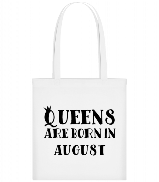 Queens Are Born In August - Sac tote - Blanc - Vorn