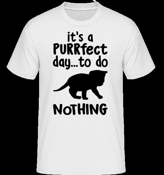 It's A Purrfect Day - T-Shirt Shirtinator homme - Blanc - Vorn