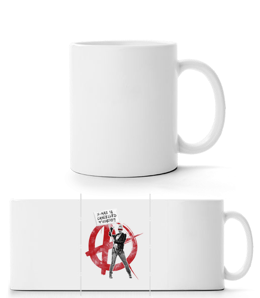 XMas Is Cancelled Fuckers - Mug panorama - Blanc - Vorn