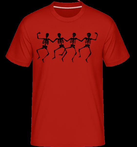 Squelettes Dancant -  T-Shirt Shirtinator homme - Rouge - Vorn