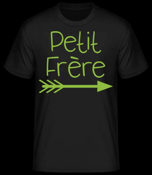 Petit Frère - T-shirt standard homme - Noir - Vorn
