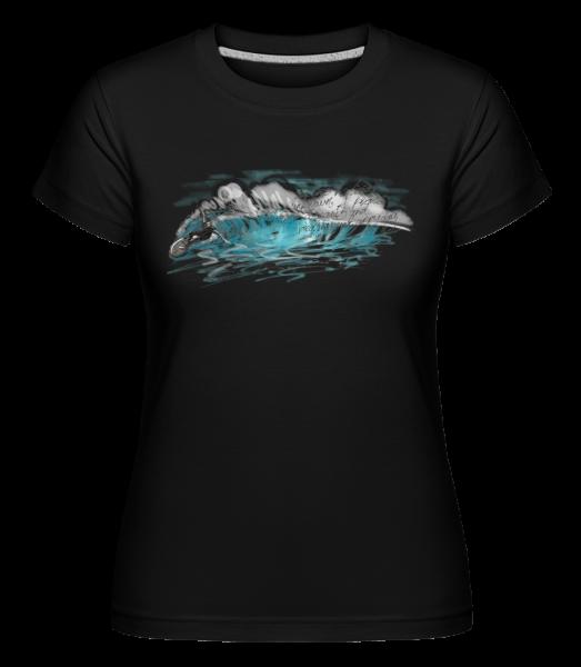 Vague De Surfeur - T-shirt Shirtinator femme - Noir - Vorn