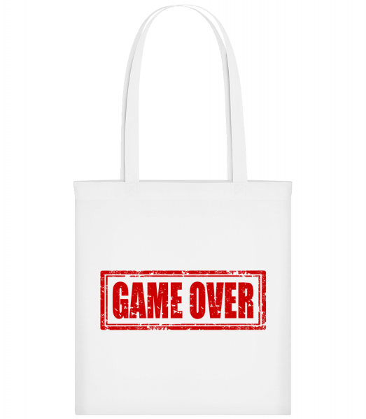 Game Over Sign Red - Sac tote - Blanc - Vorn