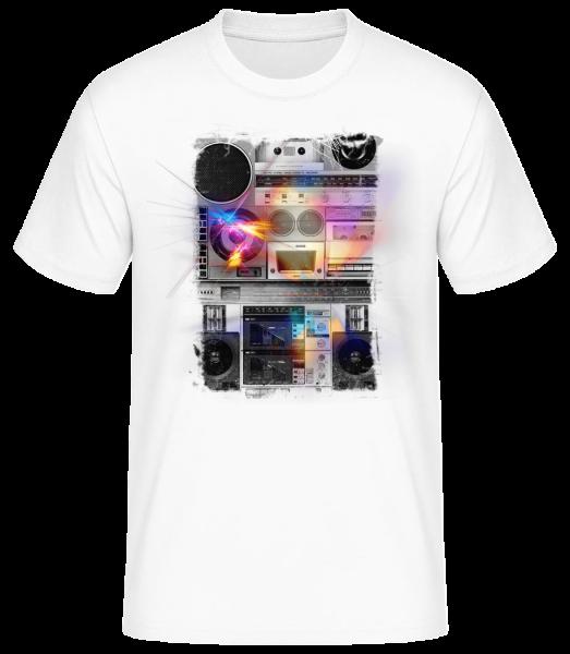 Ghettoblaster - T-shirt standard homme - Blanc - Vorn