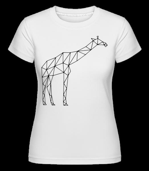 Polygon Girafe - T-shirt Shirtinator femme - Blanc - Vorn