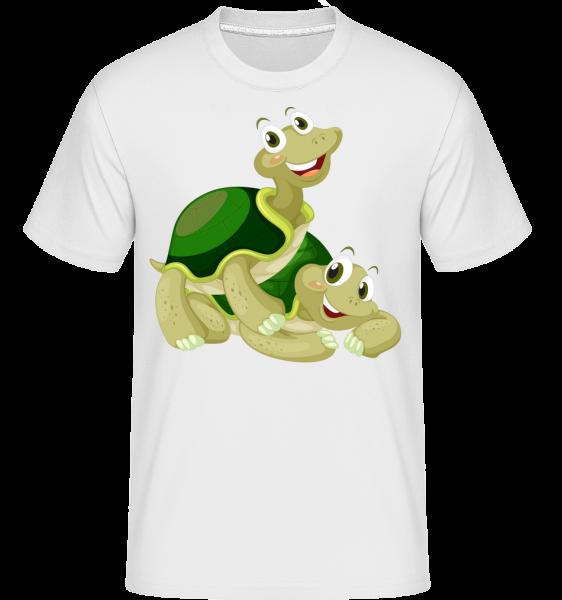 Tortues Contentes - T-Shirt Shirtinator homme - Blanc - Vorn
