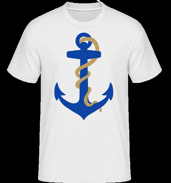 L'Ancre Avec Cordage - T-Shirt Shirtinator homme - Blanc - Vorn