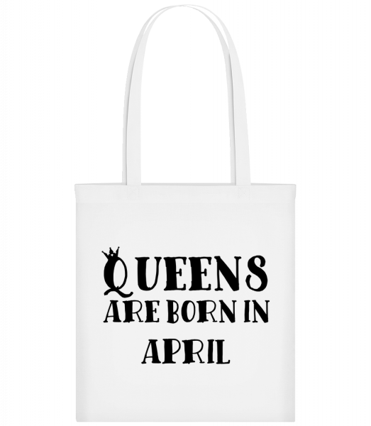 Queens Are Born In April - Sac tote - Blanc - Vorn