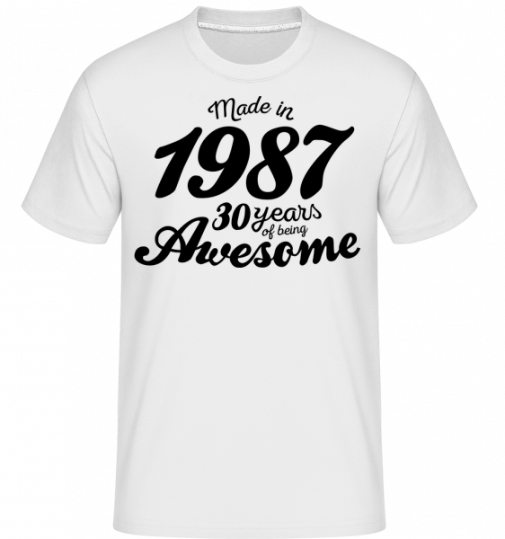 Made In 1987 - T-Shirt Shirtinator homme - Blanc - Vorn