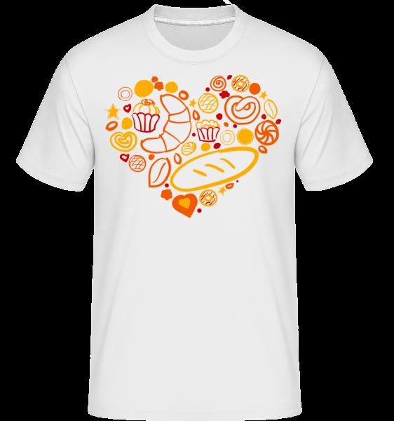Coeur Du Petit Déjeuner - T-Shirt Shirtinator homme - Blanc - Vorn
