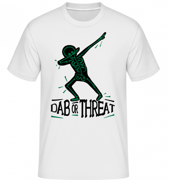 Dab or Threat - T-Shirt Shirtinator homme - Blanc - Vorn