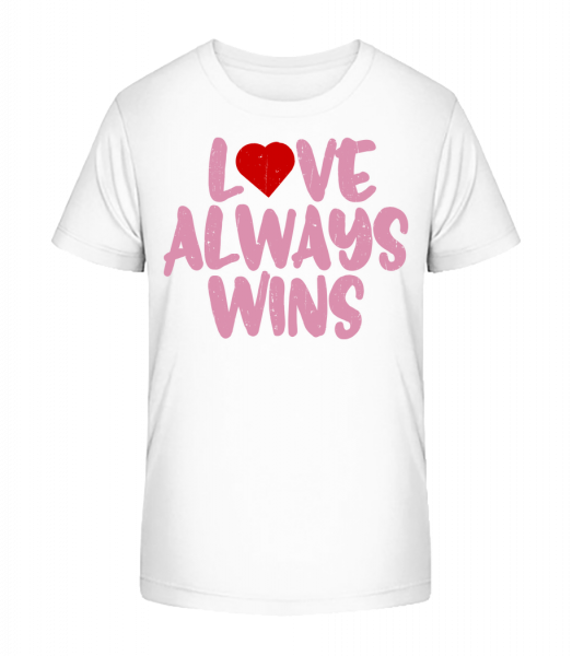 Love Always Wins - T-shirt bio Premium Enfant - 12-14 ans - Vorn