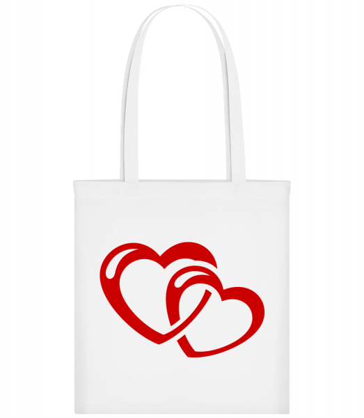 Hearts Icon Red - Sac tote - Blanc - Vorn