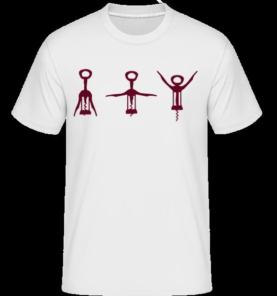 Tire-Bouchon -  T-Shirt Shirtinator homme - Blanc - Vorn