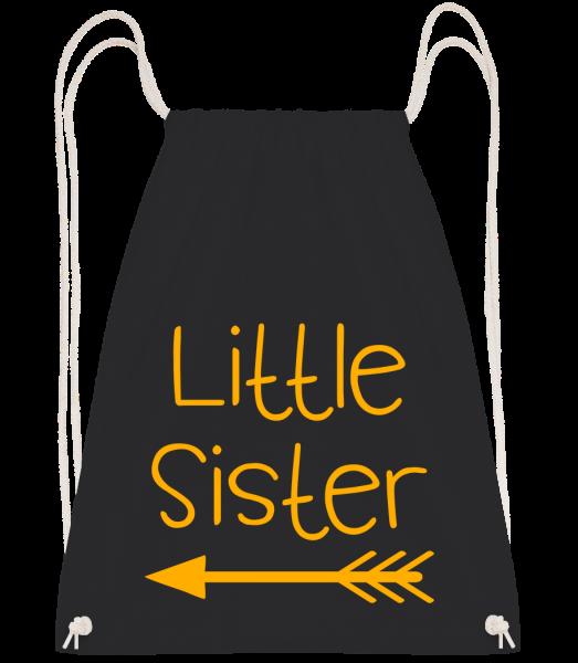 Little Sister - Sac à dos Drawstring - Noir - Vorn
