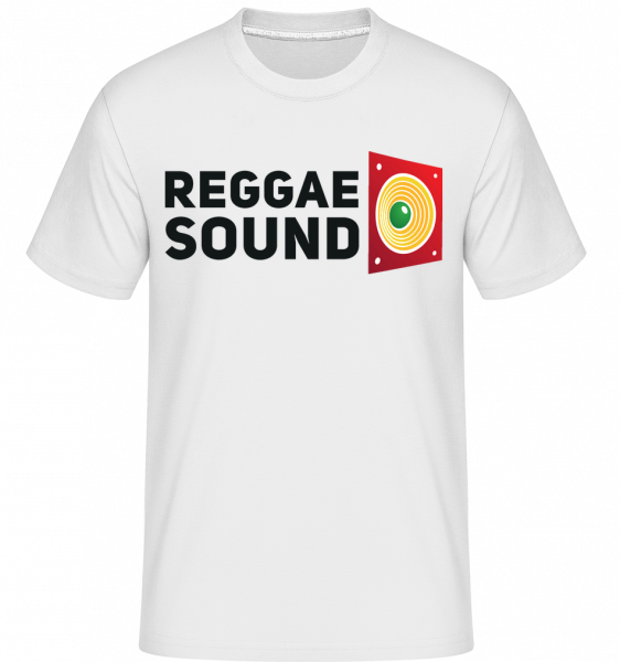 Reggae Sound - T-Shirt Shirtinator homme - Blanc - Vorn