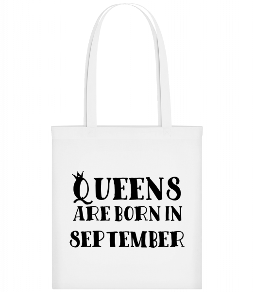 Queens Are Born In September - Sac tote - Blanc - Vorn