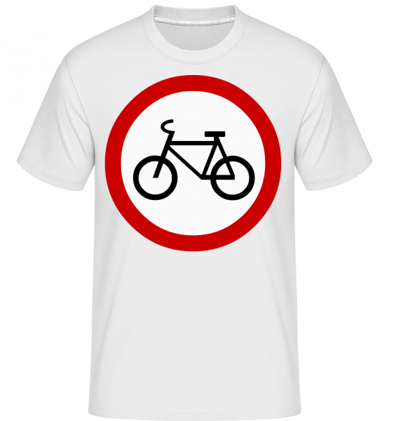 Attention Cycliste Plaque De Rue - T-Shirt Shirtinator homme - Blanc - Vorn